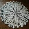 ダイソーのレース糸「Lace Yarn」を使って、ドイリーを編んでみた