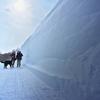 美瑛の丘 雪の壁