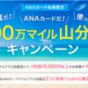 ANAカード 100万マイル山分けキャンペーン