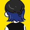 インドネシアで髪を半分青にした