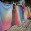 虹染め.        Regenbogen färben