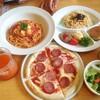 【今日の食卓】花小金井駅前の「ゆであげ生パスタ ポポラマーマ」で、北海道モッツァレラチーズのパスタとピザ