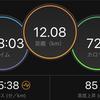 ジョギング12.08km・Hペースインターバルを5本に増量の巻