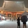 今日東京一面雪世界になったね