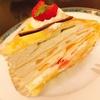 新宿のカフェ・アマティでダイエットしないとといっている知人と美味しいミルクレープ♪♪