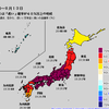 【1か月予報】向こう1か月は沖縄・奄美地方を除いて全国的に暑くなる予想!異常天候早期警戒情報が出されていて7/14から約1週間は平年よりかなり気温が高くなりそう!3連休はスーパー猛暑日予想も!!