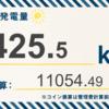 8/12〜8/18の総発電量は425.5kWh(目標比137%)でした!