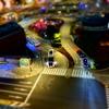 ミニチュア風写真🚙  「KITTEからの眺望🏢東京駅丸の内駅舎と駅前広場夜景🌟」