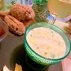 ひよこ豆と胡瓜の豆乳ヴィシソワーズ