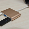 【MacBook Pro13インチ2017】 USB-CからVGA・USB-A・USB-C 変換アダプター