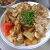幸運な病のレシピ( 2065 )夜 :タケノコと豚ソース薄切り生姜焼き、味噌汁(コシアブラ、タケノコの穂先)