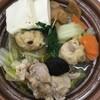 おでんを食べに来たけど、ショーケースで目に付いた鶏ちゃんこ鍋にしました。 (@ セブンイレブン 池袋北口平和通り店 - @711sej in 豊島区, 東京都)