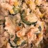 昨日の夕飯♪絶品ポテトサラダ♪美味しさのコツ♪コープデリの天然ブリ醤油麹漬け