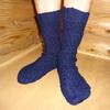 らせん編みの靴下②