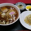 勝田台【手打ちらーめん 珍来】ラーメンセット ¥850