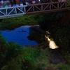 神戸山手大学の蛍橋のホタル放流、約100匹近くが一斉に煌めく!それを激写するも僕だけ煌めかないw