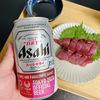 人生で2回目に魚をさばく!カツオの刺身とアジのなめろうを生ビールと日本酒でいただきました!!