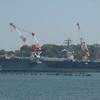 横須賀日帰り旅。軍港めぐりで空母「ロナルド・レーガン」を見る。