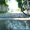 自転車でコケました……