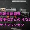 【BOCW】武器性能調整 変更点まとめ 4/22版(サブマシンガン)
