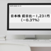 日本株 前日比-1,231円(-0.37%) 評価損益合計+67,707円