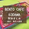 【鬼怒川駅弁まとめ】10種類紹介!改札すぐのカフェ「BENTO CAFE KODAMA(コダマ)」2014年オープン
