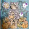 ハロウィンの猫とかぼちゃの塗り絵「森が奏でるラプソディー」
