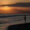 【FUJIFILM】夕焼けの鵠沼海岸