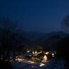 五箇山、相倉合掌造り集落のライトアップと星景