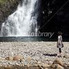 夏をみつめる少女 秋田県 本荘市 法体の滝