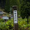 奈良曽爾村の伊勢本街道山粕宿のめだか街道へ。各家々で飼育しているメダカを購入。