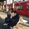 東岡崎1番のりばの回送電車