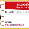 【ハピタス】ダイナースクラブカードが期間限定15,000pt(15,000円)にアップ! さらに10,000円キャッシュバックの新規入会キャンペーンも!