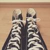 【ライフハック】セリアのゴム靴ひもをコンバースオールスターに装備したらハイカットでも秒速で履ける!【100均】