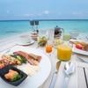 モルディブの海の上 ミライドゥの朝食ビュッフェ@オーシャン Ocean