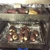 焼き芋の試し焼き