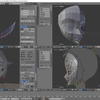 HoloLens特化のホロ恋子モデルを作成する その12(顔の残りパーツのモデリング)