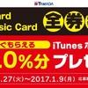 ヤマダ電機・ベスト電器でiTunesカード10%増量キャンペーン開催中 (2017年1月9日まで)