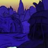 ファンタジー風景の描き方 模写(途中)