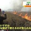 阿蘇山麓一帯で野焼き