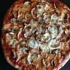 マッシュルーム・玉葱ピザ。