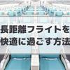 【旅行準備】長距離フライトを快適に過ごす方法