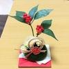 100円グッズでお正月の苔玉飾りを作る