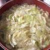 夜食にもおススメ!!キャベツの中華風スープを作りました!