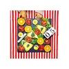 【手作りピザとカラフルサラダ】