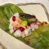 ローゼルで秋の蒸し寿司