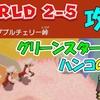 ワールド2-5 攻略  グリーンスターX3  ハンコの場所  【スーパーマリオ3Dワールド+フューリーワールド】