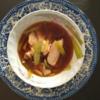 ペナンのコンドで、今日の朝食は清蒸魚(チンジャンユー)