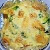 【簡単レシピ】【包丁・火不要】【栄養満点】レンジとオーブンで作るパンで豆乳グラタンの作り方。
