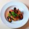 「ムール貝と菜の花のトマトソース・スパゲティ」のご紹介